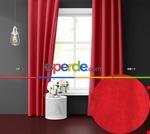 Uzay Mavisi Ada Fon Perde 51 Renk Seçeneği 150x260 Perle Home Daily Series Kırmızı