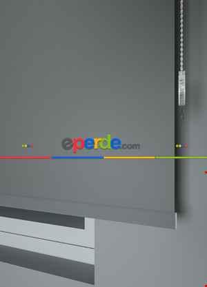 Koyu Gri Renkli Düz Yıkanabilir Polyester 1.kalite Stor Perde