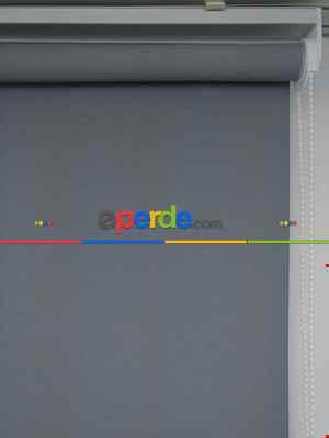 Yıkanabilir Pvc Mat Lüx Stor Perde - Gri 1. Kalite- Gri-füme-antrasit