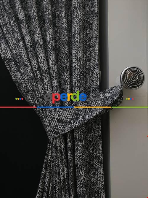 Siyah-beyaz Özel Seri Fon Perde ( Leke Tutmaz)- Siyah-Beyaz