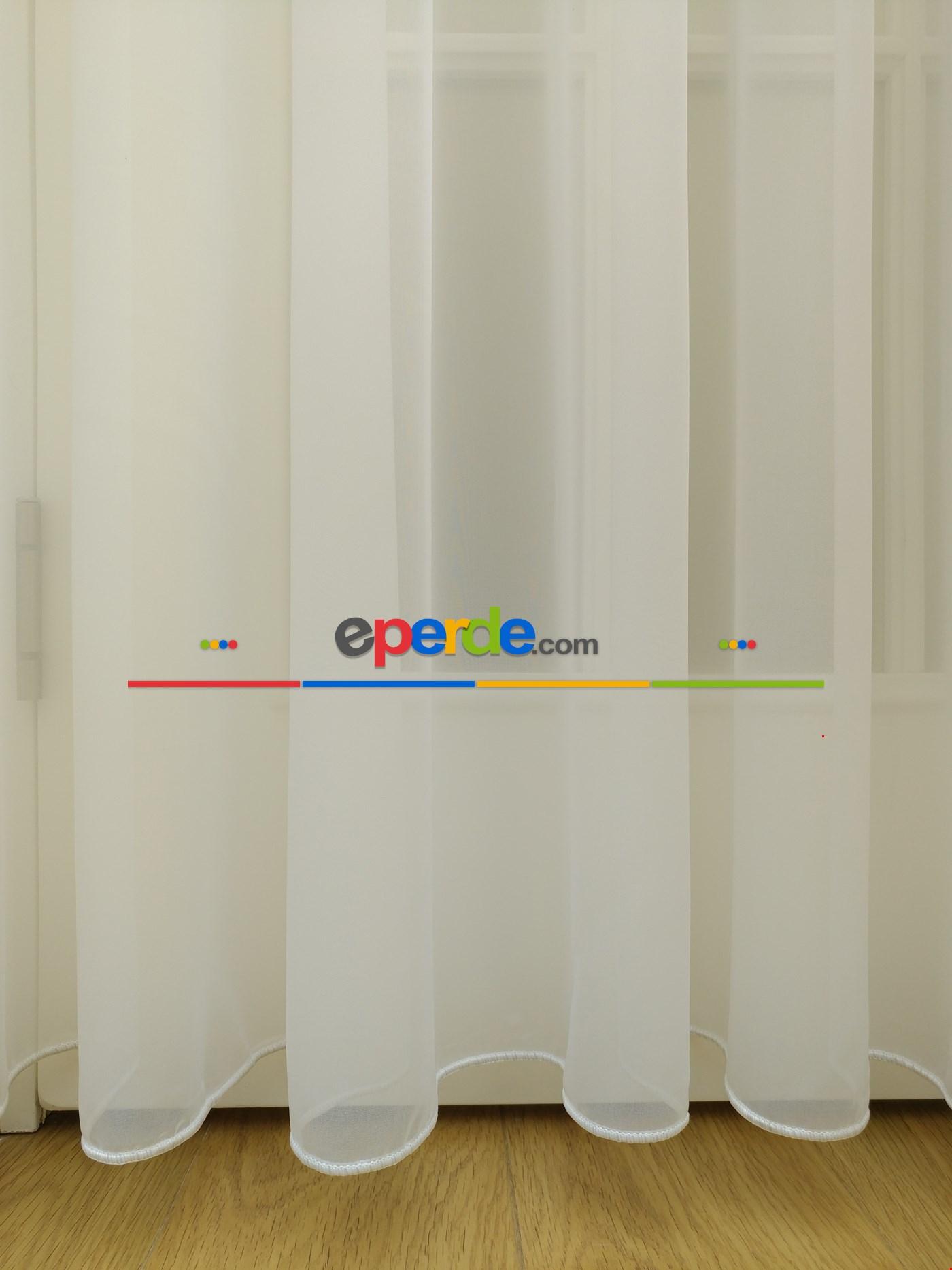 1.sınıf Düz Tül Perde Ekru (boy Maximum 290cm)