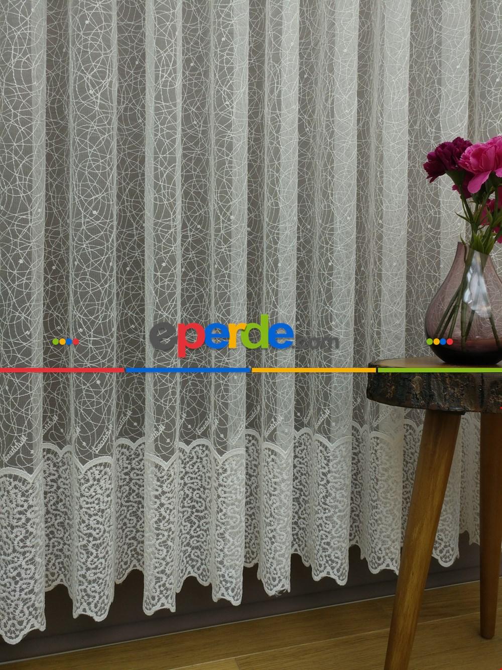 Zarif Brode Perde 5 Yıl Kullanım Garantili Zemin, 652