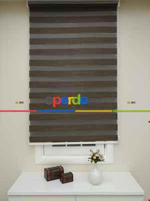 Salon Zebra Perde - Fırsat!!! Lüx Bambu Zebra Perde Ahşap Görünümlü -acı Kahve- Acı Kahve