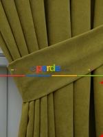 Kahverengi Düz Fon Perde (280 Eninde)- Kahverengi Yeşil