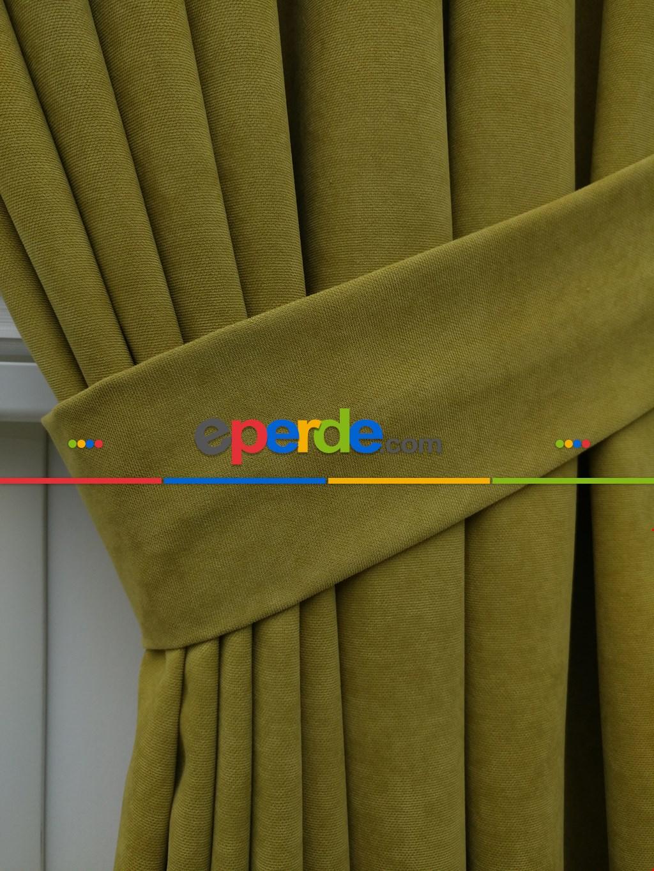 Açık Yeşil Düz Fon Perde (280 Eninde)- Açık Yeşil