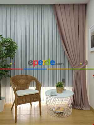 Salon Soft Pudra Fon Perde (180)- Pudra