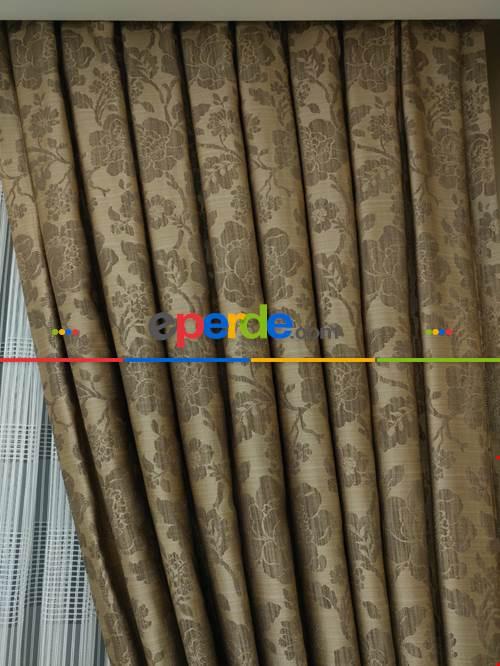 Açık Bej Düz Fon Perde Dökümlü Birinci Kalite 300cm Geniş En Daha Hesaplı