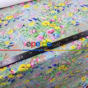 Çiçek Desenli Fon Perde K314 - Kumaşı Kalındır Duck Bezi Değildir- Gri-Füme-Antrasit-Sarı-Mor-Lila-Çok Renkli