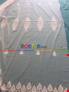Brillant Döner Gücü Zemin Kort Nakışlı Pudra Pembe Tül Perde Özel Dikişli