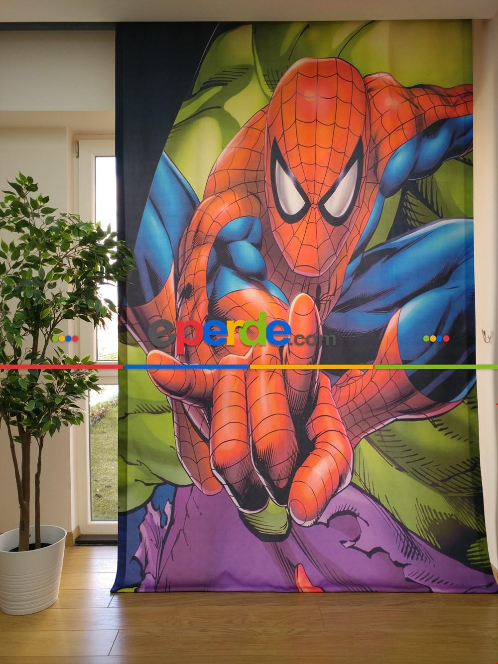 Spiderman Örümcek Adam Fon Perde - Çocuk Odası Perdesi