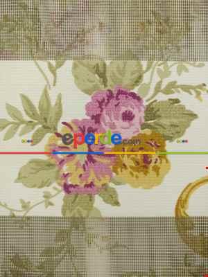 Zebra Perde- Çiçek Baskılı Zebra Perde- Lila Açık Lila