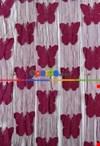 İp Perde Kelebek 3mt'lik Kupon Nar Çiçeği
