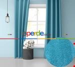 Sis Mavisi Ada Fon Perde 51 Renk Seçeneği Perle Home Daily Series Turkuaz