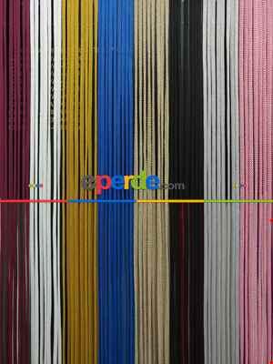 Bordo Rengi İp Perde Jumbo Zincir Serisi- Bordo