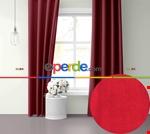 Sis Mavisi Ada Fon Perde 51 Renk Seçeneği Perle Home Daily Series Kırmızı