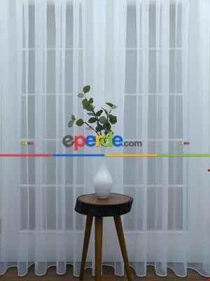 Pırıltılı Tül Parlak Zemin Işıltılı Simli Tasarım Yeni Tül- Beyaz-ekru