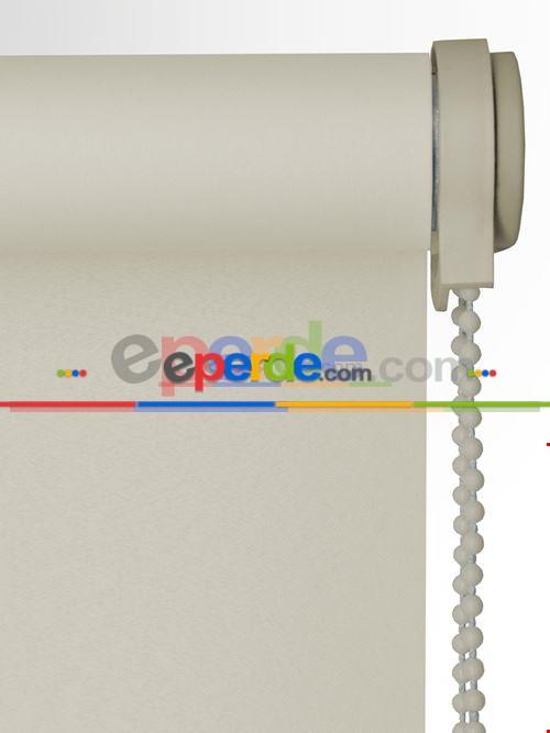 Ekru Saten (polyester) Stor Perde