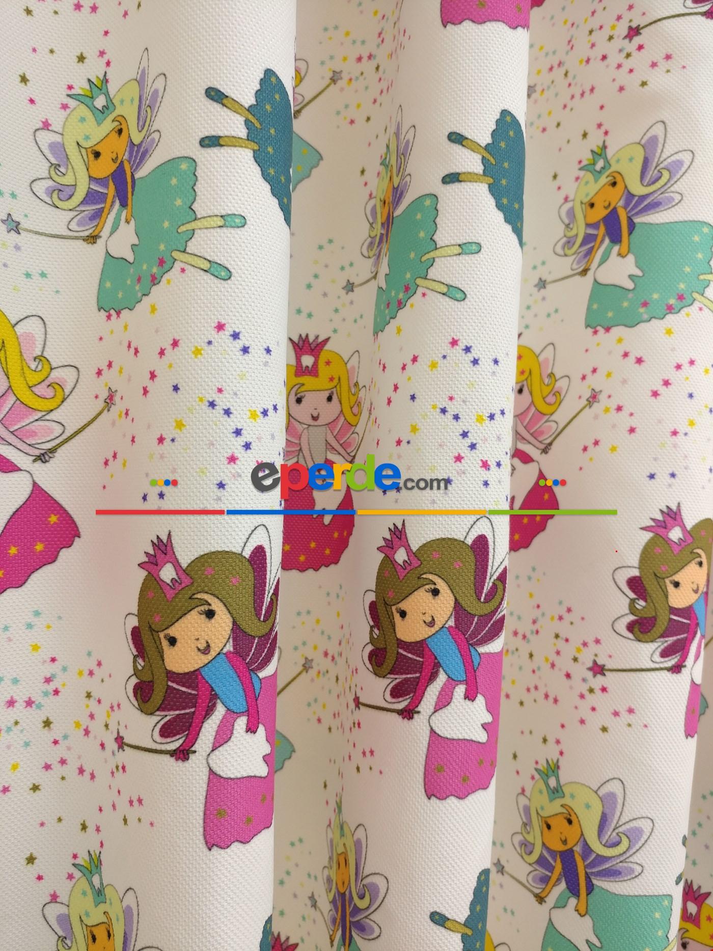 Kız Bebek & Çocuk Odası Sihirbaz Kız Fon Perde Modelleri