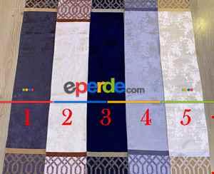 Rustil Perdesi Decoring Perdeyeni Moda Kuşgözü Rustik Fon Perde 100cm X 1cm