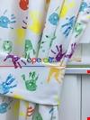 Boyalı Eller Baskılı Çocuk Odası Fon Perde - ( Kalın Pamuklu Kumaş)