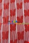 İp Perde Kelebek 3mt'lik Kupon Kırmızı