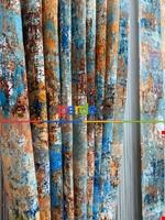 Modern Desenli Fon Perde 3 - ( Kalın Pamuklu Kumaş)- Siyah-mavi-füme-ekru-hardal Sarısı-turkuaz Yeşili Ara Renk Mavi - Kahverengi - Ekru - Hardal