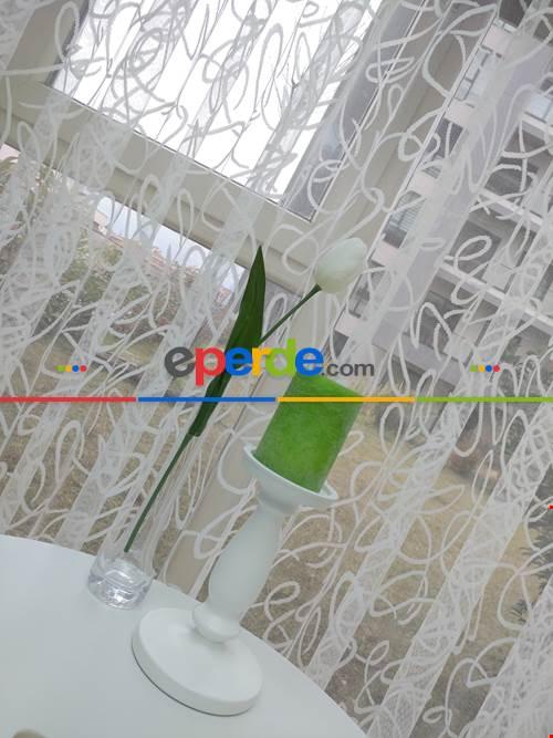Salon Yatak Odası Fransız Dantel 2021 Tül Perde