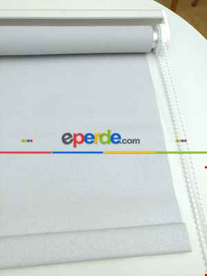 Yaldızlı Stor Perde Pastel Simli Serisi (pvc Kaplama) Kalın Dokulu 8 Farklı Renk- Krem Koyu