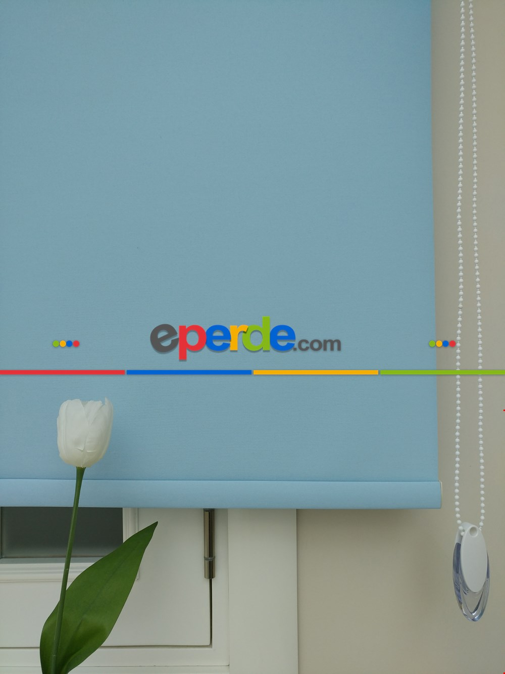 Mavi Renk Stor Perde- Pvc Mat Stor Perde - Açık Mavi 1. Kalite- Mavi-mavi Açık