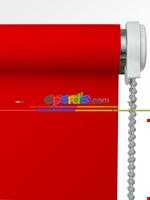 Stor Perde Karartma Serisi (blackout)- Beyaz-ekru Kırmızı