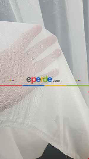 Parlak Kalın Tül Tasarım Moda Yeni Tasarım- Beyaz-ekru