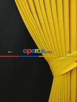 Gri Düz Renk Dökümlü Fon Perde (150)- Gri Sarı