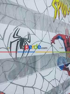Zebra Perde- Dijital Spıderman Örümcek Adam Baskılı Zebra Perde- Mavi-kırmızı-sarı
