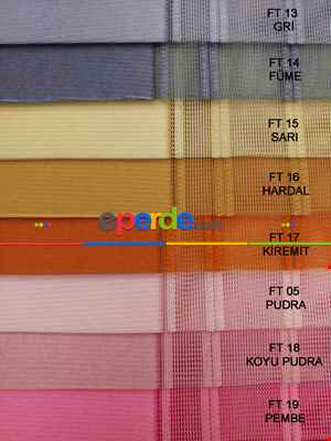 Salon - 1. Kalite Çizgili Tül Dikey Zebra Perde - Ft04 Kahve - Ft11 Sütlü Kahve Ft21 Gül Kurusu- Gül Kurusu