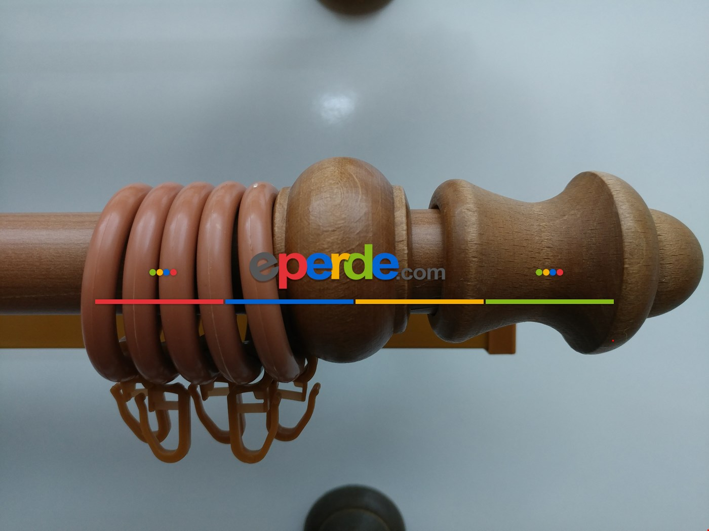 Rustik Perdelik - Ceviz (raylı) 100cm X 5cm