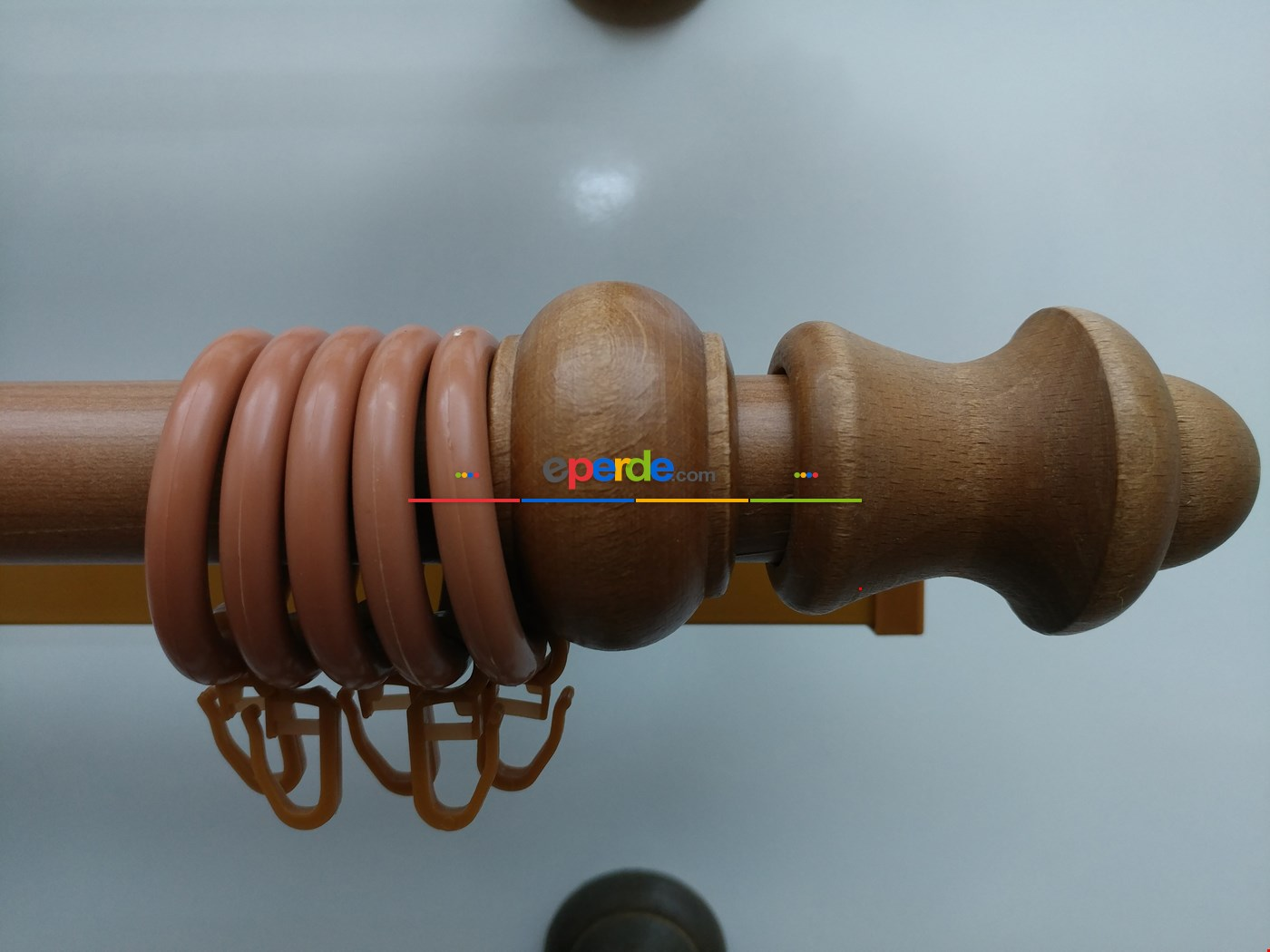 Rustik Perdelik - Ceviz (raylı)