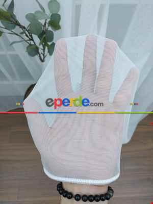 Salon Tül - Dönergücü - Pırıltı Zemin Tül Perde Beyaz Renk 1.kalite- Beyaz