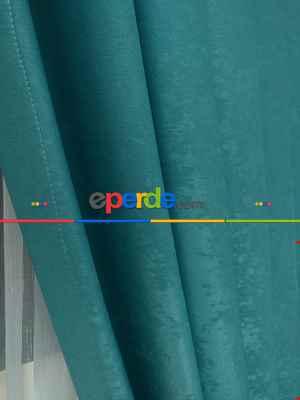 Soft Fon Perde- Turkuaz Yeşili Ara Renk