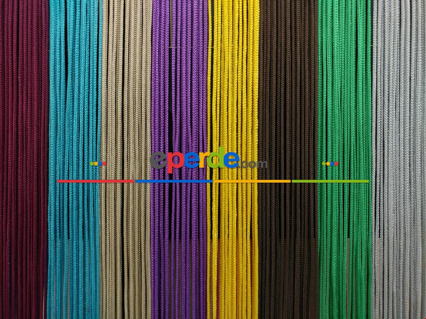 Eflatun Rengi İp Perde Kalın Zincir Serisi