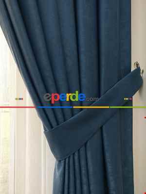Soft İndigo Fon Perde (180)- Mavi