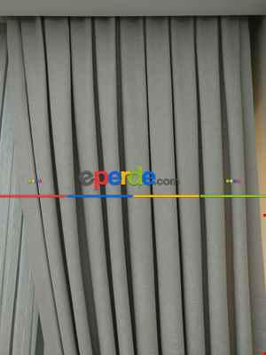Salon Perdesi - Pudra - Düz Fon Perde ( En 180cm Dökümlü Fon Perde)- Gri-Füme-Antrasit