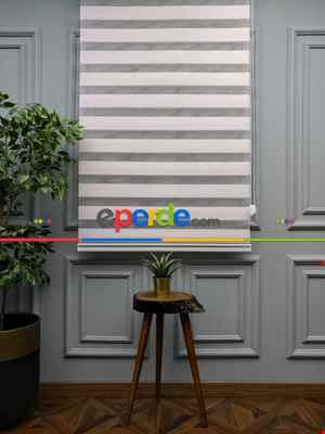 Salon Zebra Perde - 2021 Sezonu - Zebra Perde - Bambu Zebra Perde- Pembe Açık