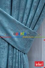 Brillant Mat Jakar Desen Fon Perde ( 180cm Dökümlü Fon )- Yeşil Mavi