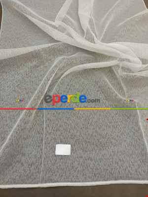 Salon Tül Perde - Zerafet Serisi 2021 Modern Mekanlarınız İçin Düz Armür Tül Perde(ütü Gerektirmez)- Ekru