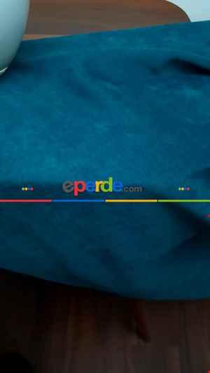 Petrol Mavisi Düz Fon Perde (280 Eninde)- Petrol Mavisi