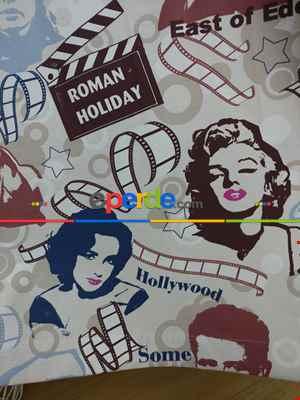 Marilyn Monroe Fon Perde- Mavi-bordo