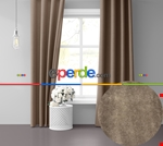 Sis Mavisi Ada Fon Perde 51 Renk Seçeneği Perle Home Daily Series Kahverengi