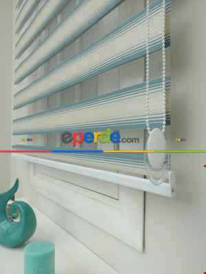 Salon Zebra Perde - Zebra Perde Degrade Plise Serisi 2021- Beyaz