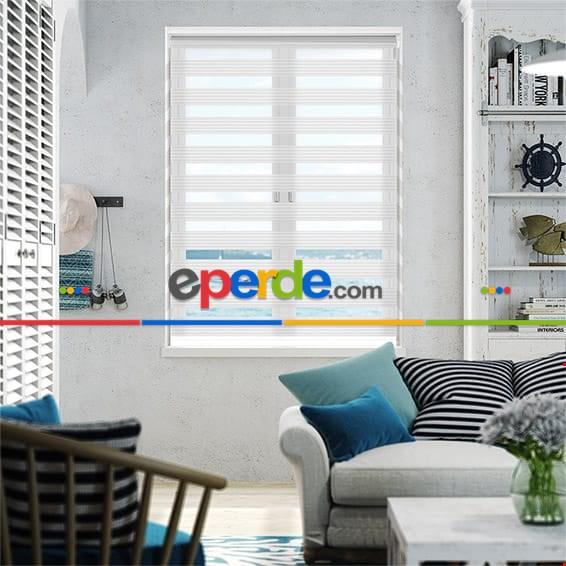 Plise Zebra Perde Arne 171 01 (beyaz)