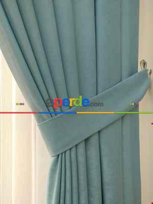 Salon Perdesi - Soft Mint Yeşili Fon Perde (180)- Mint